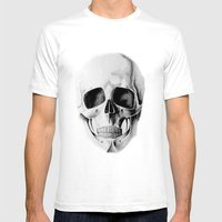 Le Crâne Mens Fitted Tee White SMALL