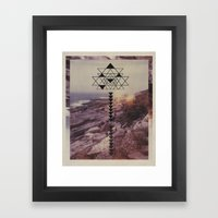 Stretched to the Point of No Turning Back Framed Art Print