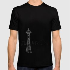 Seattle by Friztin Mens Fitted Tee Black SMALL
