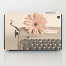 Soft Typewriter (Retro and Vintage Still Life Photography) iPad Case