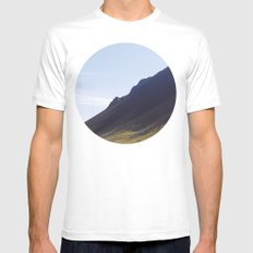 Obliquo, Iceland Mens Fitted Tee White SMALL