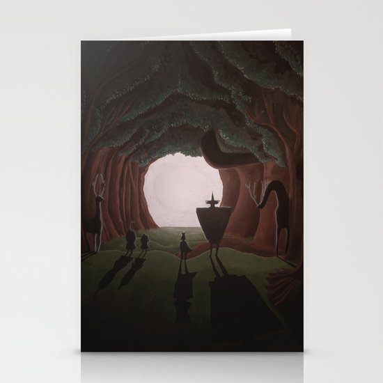 Tunnel in the end of the light. Stationery Card