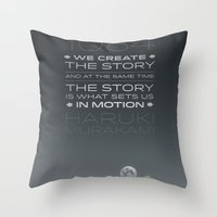1Q84 Throw Pillow