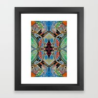 hearts and monsters Framed Art Print