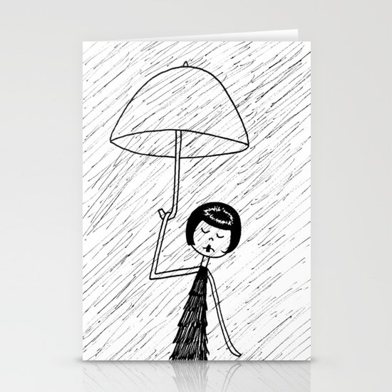 Rainy day Stationery Card