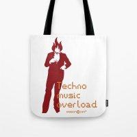 Techno Music Overload Tote Bag