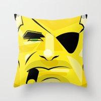Post It Portrait: Nick F… Throw Pillow