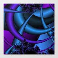 purple and blue fractal Canvas Print