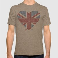Union Jack  Mens Fitted Tee Tri-Coffee SMALL