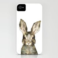 iPhone 4s & iPhone 4 Cases featuring Little Rabbit by Amy Hamilton