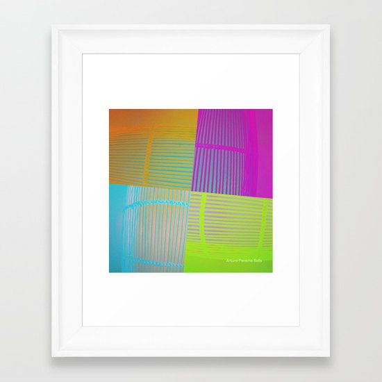 Di-simetrías Color Framed Art Print