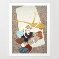I's drown in burgundy for you Art Print
