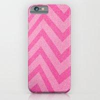pink chevron sparkle iPhone 6 Slim Case