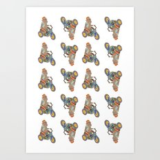MonkeyDonkey. Art Print