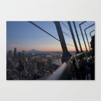 Gazing On Mt. Rainier Canvas Print