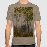 Pine Trees Viewed Throug… Mens Fitted Tee Tri-Coffee SMALL