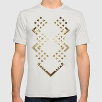 CUBIC DELAY Mens Fitted Tee Silver SMALL