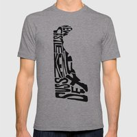 Typographic Delaware Mens Fitted Tee Athletic Grey SMALL