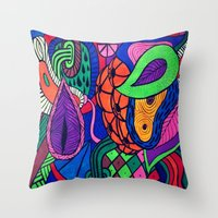 Arstract fruits Throw Pillow