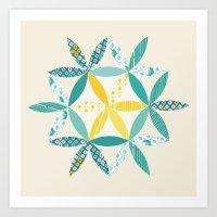 Patchwork Sunshine Art Print