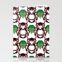 Emeralds & Demons [WHITE… Stationery Cards