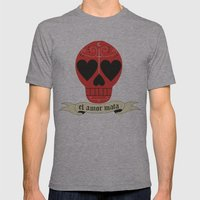 el amor mata Mens Fitted Tee Athletic Grey SMALL