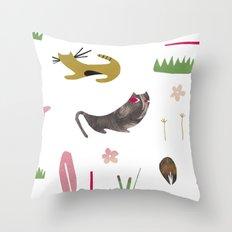 kittycats Throw Pillow