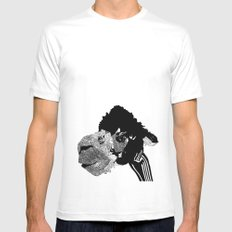 Alpaca SMALL White Mens Fitted Tee