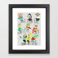 Bikers. Framed Art Print
