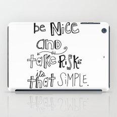 Nice + Risks = Happiness  iPad Case