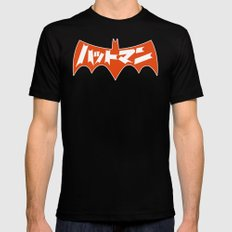 Japanese Red Bat Symbol Black Mens Fitted Tee SMALL