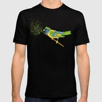 Feathers & Flecks Mens Fitted Tee Black SMALL
