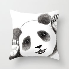 Panda Close Up Throw Pillow