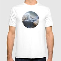 Planetary Bodies - Waves Mens Fitted Tee White SMALL
