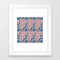 Pattern Project #17 / Bird Life Framed Art Print