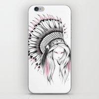 Indian Headdress Pink Version iPhone & iPod Skin