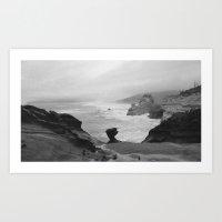 Dark Coastal Days Art Print