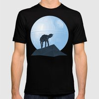 Howl at at the Moon Mens Fitted Tee Black SMALL