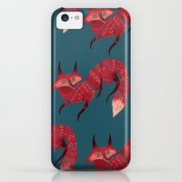 iPhone 5c Cases featuring F O X ! by Karl James Mountford