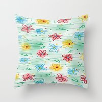 Spring Is Right Here Throw Pillow