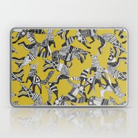 woodland fox party ochre yellow Laptop & iPad Skin