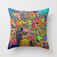 Four new Colours of the Rainbow [Acrylic and Digital Abstract] Throw Pillow