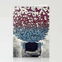 Butterflies In My Head. Stationery Cards