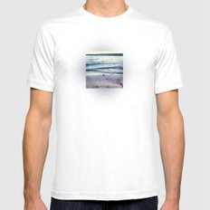 Beach Feeling White Mens Fitted Tee SMALL