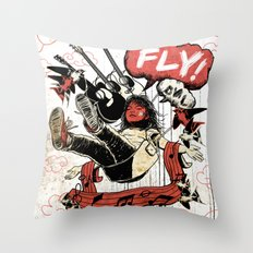 FLY! Throw Pillow