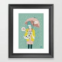 Walking the Dog Framed Art Print