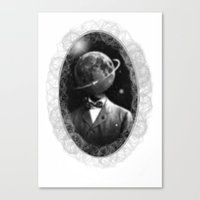 THE PLANET HEAD Canvas Print