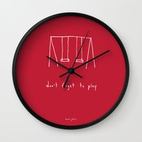 Don't Forget To Play - R… Wall Clock
