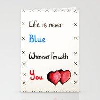 Valentine's: Never Blue Stationery Cards
