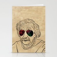 Albert wears his sunglasses at night Stationery Cards